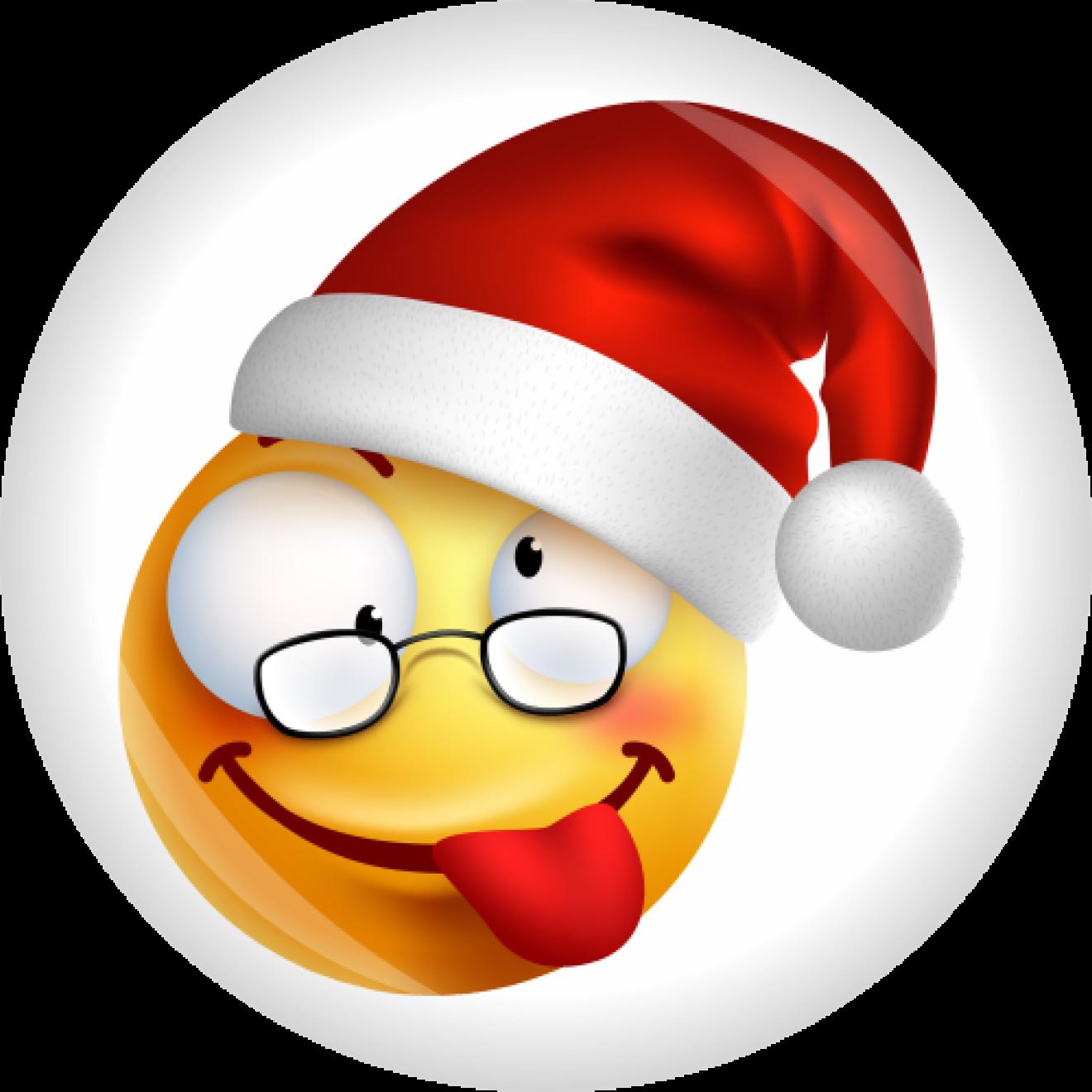 Button Smiley Emoji Weihnachten Ø 50 mm