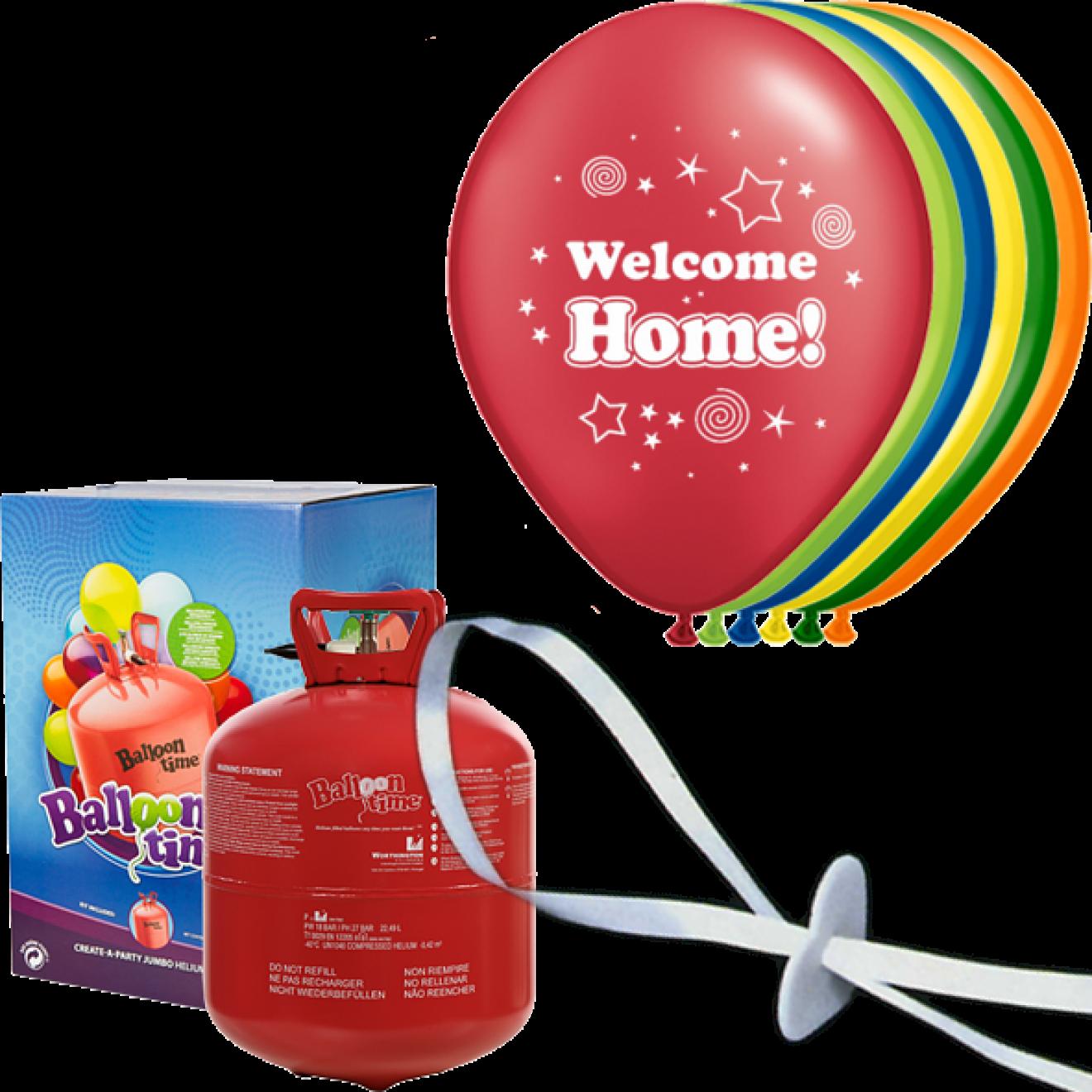 helium set luftballons welcome home. Black Bedroom Furniture Sets. Home Design Ideas