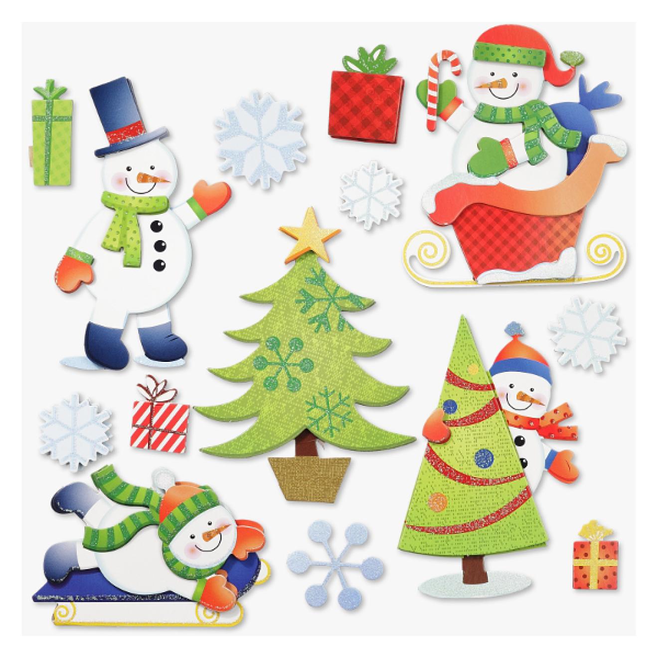 Sticker 3d Xxl Weihnachten Schneemann Design 1