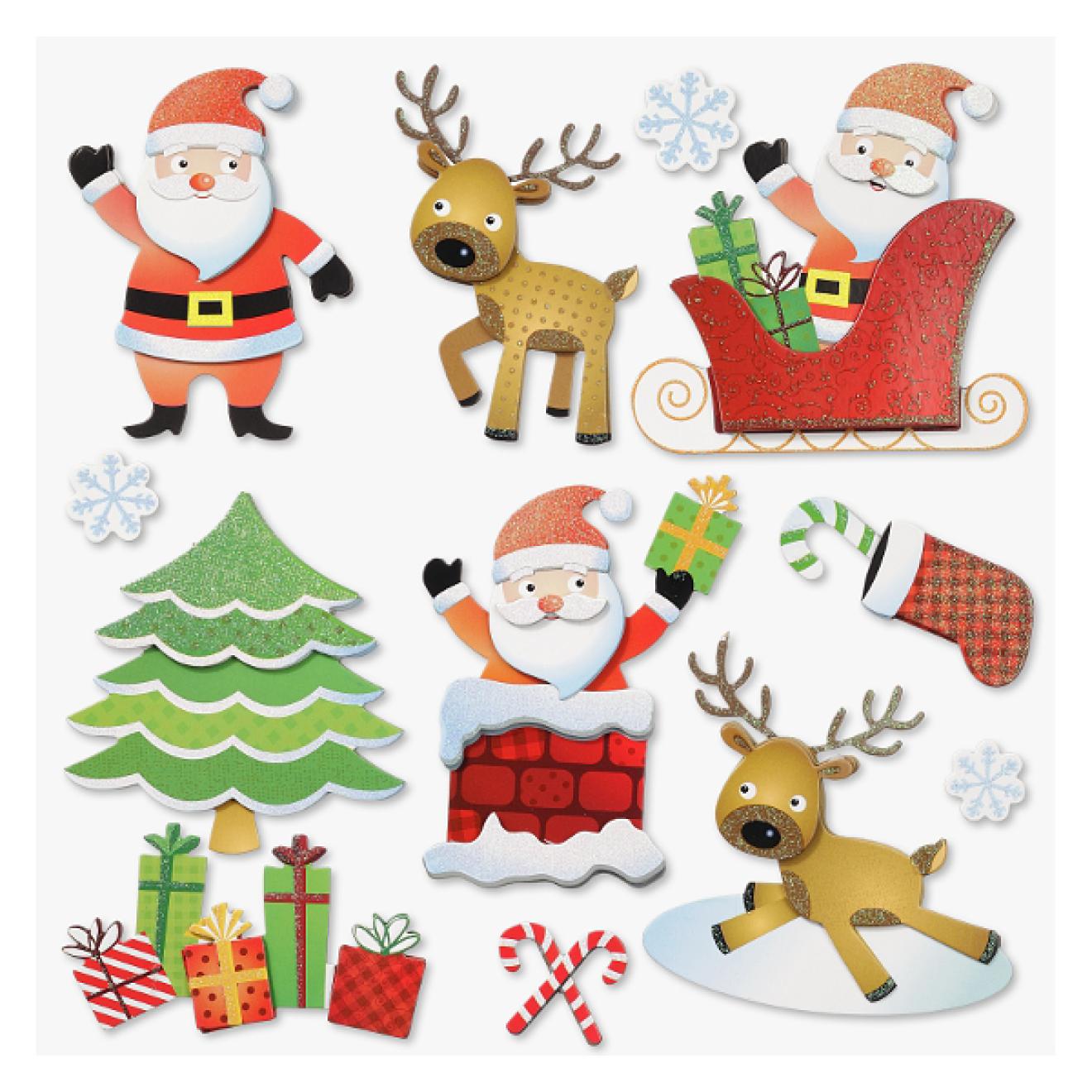 sticker 3d xxl weihnachten weihnachtsmann design 1. Black Bedroom Furniture Sets. Home Design Ideas