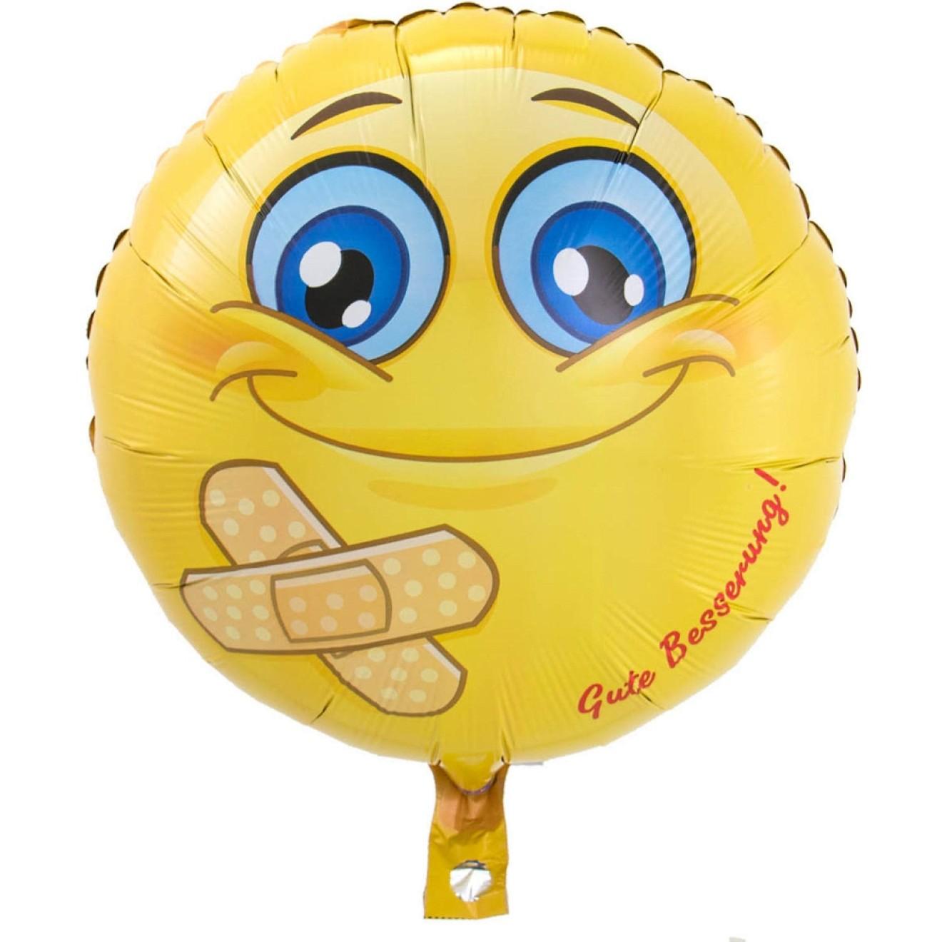 Folienballon Emojis - Gute Besserung Ø 43 cm