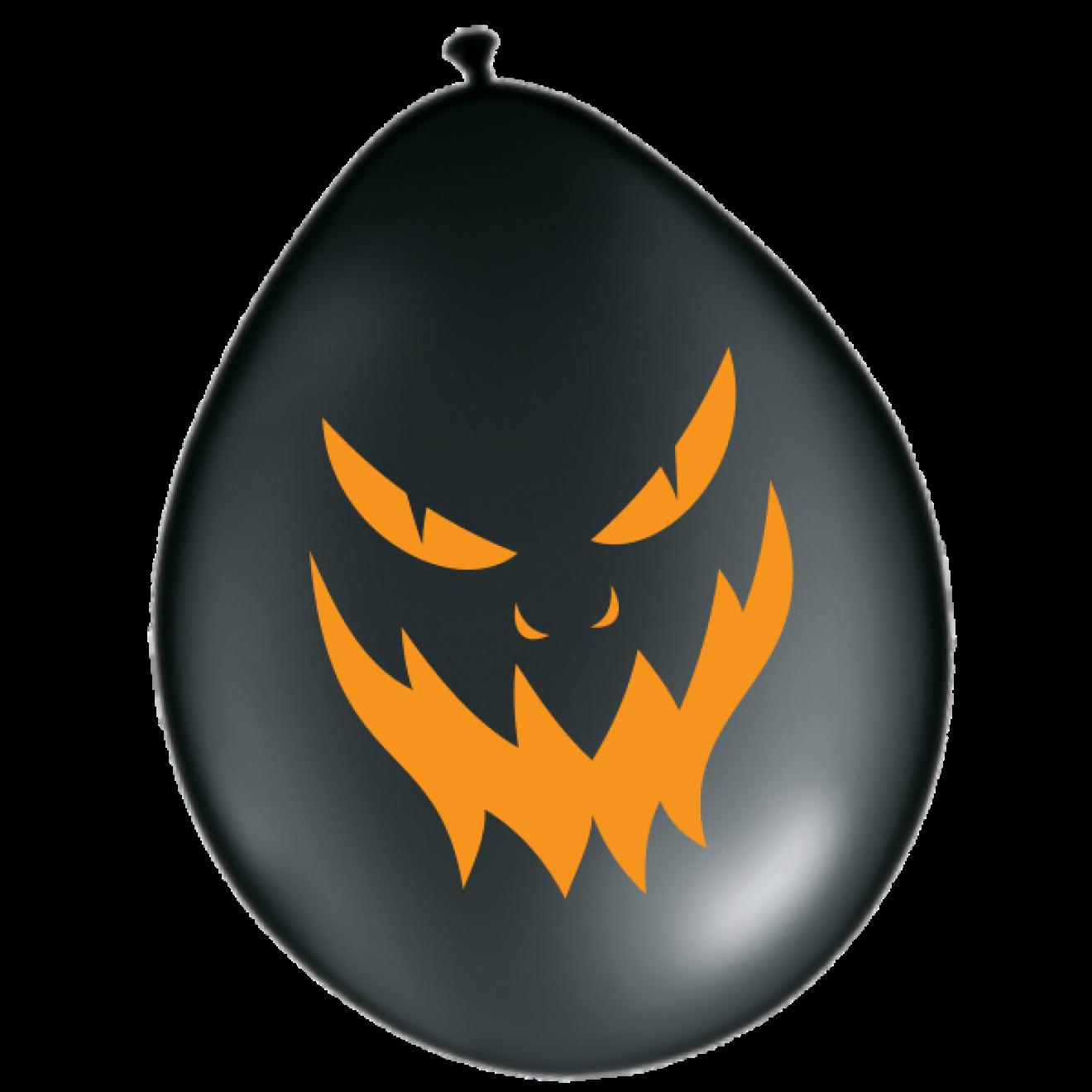luftballons halloween b ses gesicht schwarz 30 cm. Black Bedroom Furniture Sets. Home Design Ideas
