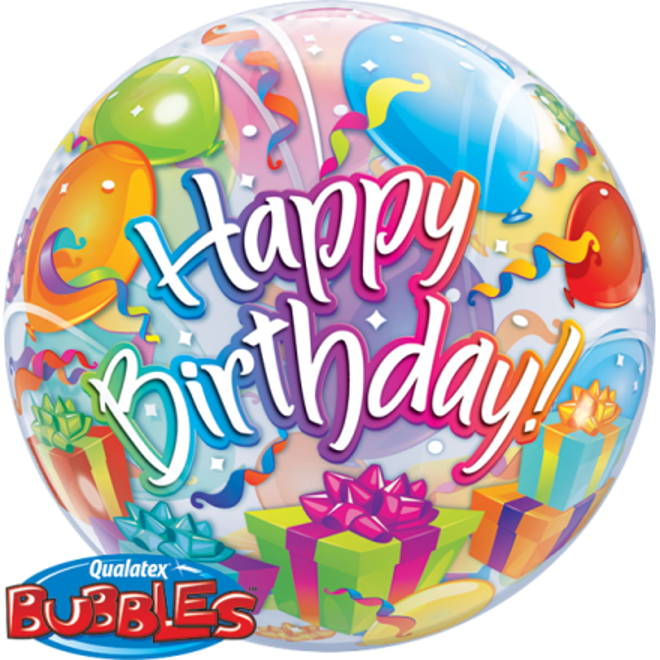 ballonpost geburtstag happy birthday geschenke luftballons bubble. Black Bedroom Furniture Sets. Home Design Ideas