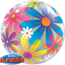 Bubble Ballon Gänseblümchen Ø 56 cm - Qualatex -
