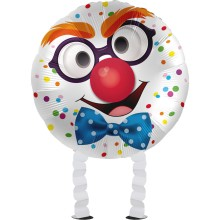 Folienballon Airwalker - Clown - 45 cm