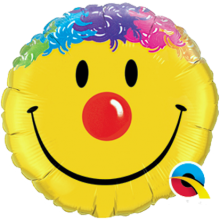 Folienballon Smiley - Haare Ø 45 cm - Qualatex -