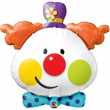 Folienballon - Karneval Clown Ø 90 cm - Qualatex