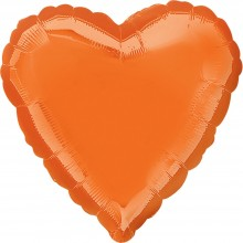 Folienballon Herz - Orange Ø 45 cm - Anagram -