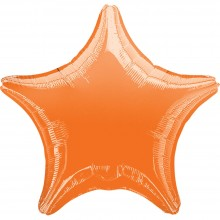 Folienballon Stern - Orange Ø 45 cm - Anagram -
