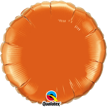 Folienballon Rund - Orange Ø 45 cm - Qualatex -