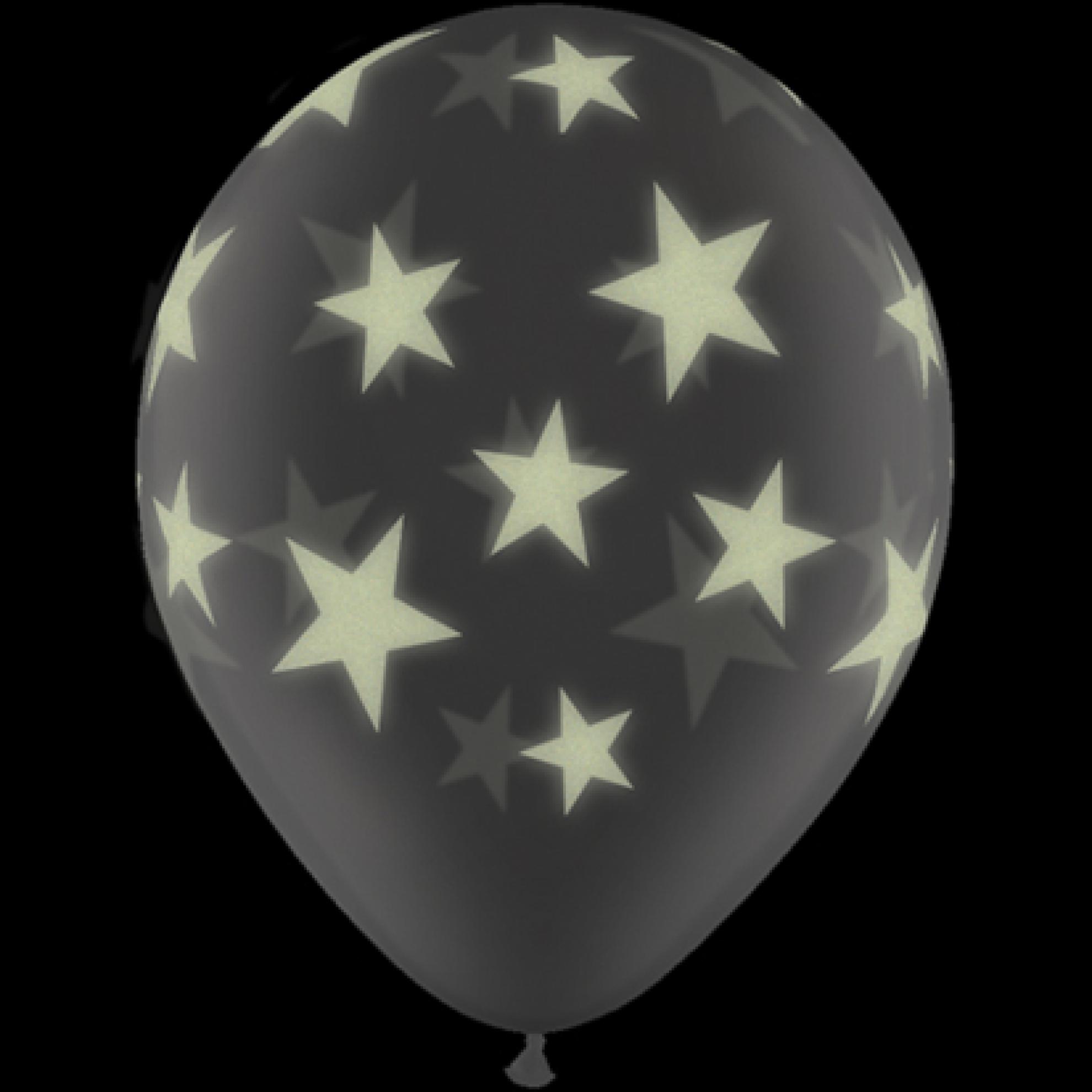 luftballons leuchtsterne kristall durchsichtig 28 cm qualatex 5 st ck. Black Bedroom Furniture Sets. Home Design Ideas